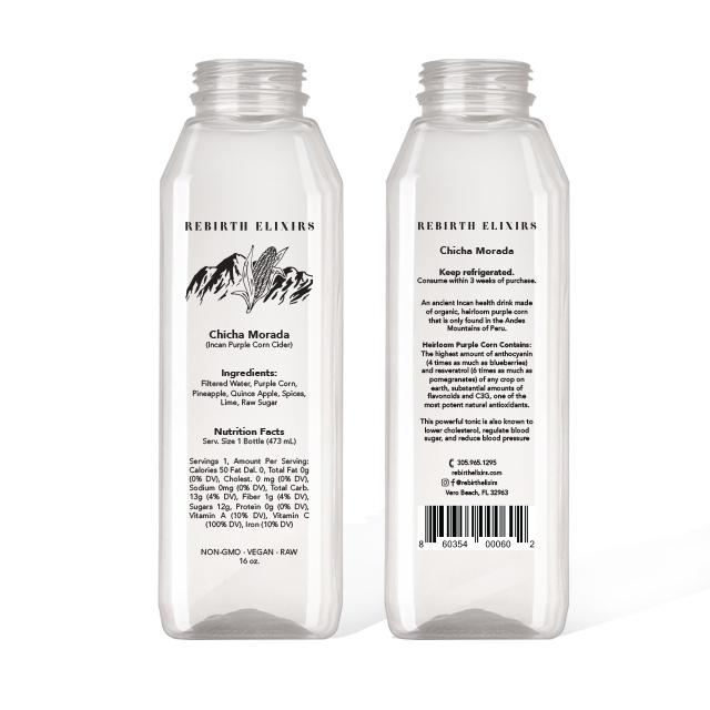 Rebirth Elixirs - Bottle Label