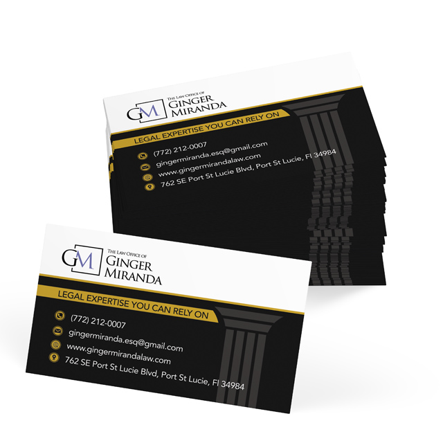 Ginger Miranda Law - Business Cards